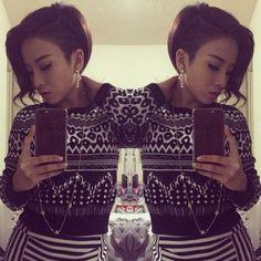 Sidecut undercut on thick Asian hair by #NSLH