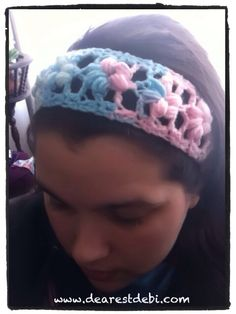 Crochet Puff Flower Stitch Headband - Media - Crochet Me