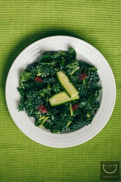 Simple Kale Salad   Lemon-Shallot Dressing