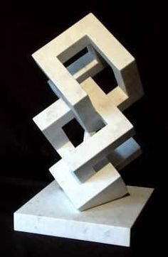 Abstract Organic and Geometric Sculpture Geometric 3d, Geometric Sculpture, Abstract Sculpture, Sculpture Art, Sculptures, Outdoor Sculpture, Shape Design, 3d Design, Geometry Shape