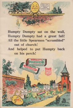 Wrigley's Spearmint Gum mascots used between 1910 - 1920.