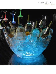 night time party: add glow sticks to ice except not alcoholic
