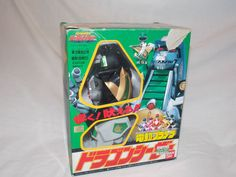 Mighty Morphin Power Rangers Green DragonZord Dragon Caesar Megazord 1992 Bandai #Bandai