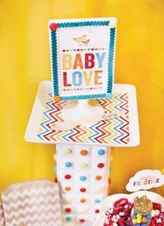 Retro Rainbow Baby Shower {Part 2 - Dessert Table} // Hostess with the Mostess®