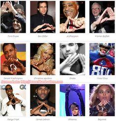 celebrities illuminati satanic hand signs