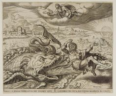 Jonah Cast up by the Whale Philips Galle –1566