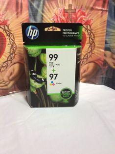 Genuine HP 99 Photo and 97 Tri-color Ink Cartridge for sale online Printer Ink Cartridges, Ink Toner, Color Combos, Prints, Ebay, Black, Colour Schemes, Black People, Color Combinations