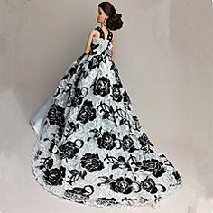 Wit / Zwart - Feestje & Avond - Barbie Doll - van Organza / Kant - Jurken…