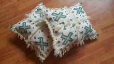 Set of 2 Vintage Moroccan pillows cover wool by Fayshopberrechid