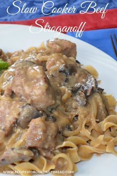 HOW TO MAKE BEST SLOW COOKER BEEF STROGANOFF  PRINT RECIPE HERE: http://recipesforourdailybread.com/crock-pot-beef-stroganoff-recipe/