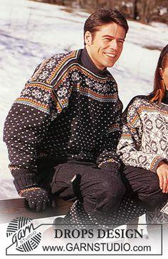Free pattern: DROPS Sweater and socks in Karisma Superwash Knitting Patterns Free, Free Knitting, Free Pattern, Drops Design, Etnic Pattern, Clothing Patterns, Men Sweater, Socks, Needlework