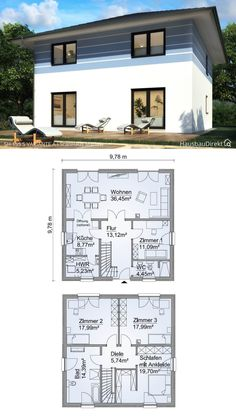 Town Country Haus, Living Haus, Floor Plans, Diy, House, Garden, Architecture, Furniture, Houses