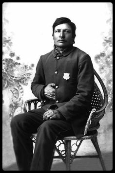 """Bull Head: The police were surrounded by an excited throng. Sitting Bull was furious and called to his men for help. His adopted brother, the Assiniboine captive whose life he saved years ago, was the first to fire and killed Lt. Bull Head, who held Sitting Bull by the arm. Then there was a short conflict, in which Sitting Bull and six of his defenders and six  Indian police were slain, with many wounded. The chief's young son, Crow Foot, and his adopted """"brother"""" died with him."""