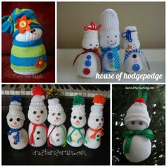 Snowman Craft No sew Tubesock Snowmen..we made these when i was a kid!! Cute