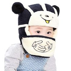 27e82674eea YAOSEN Winter Plush Bear Hat and Mouth Mask Set for Infants and Toddlers   halloween