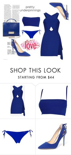 """""""#prettyunderpinnings"""" by siri-cm ❤ liked on Polyvore featuring Versace, Banana Moon, Dorothy Perkins, Handle and prettyunderpinnings"""