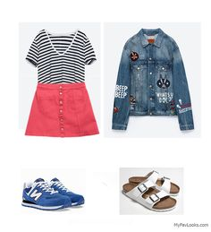 how to wear a skirt and sneakers