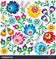 stock-vector-floral-polish-folk-art-pattern-in-square-wzory-lowickie-wycinanki-249107515.jpg (1500×1600)