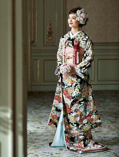 Wedding Kimono, Japanese Wedding, Japanese Characters, Traditional Outfits, Victorian, Dresses With Sleeves, Long Sleeve, Style, Random