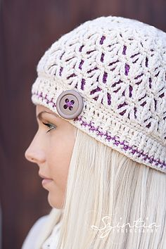 A crochet pattern which can be used for a cozy two layered winter hat or a lacy fall/spring hat! | Ravelry: Kierra Hat 2in1 by Viktoria Goglak