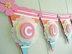 Baby Shower Banner. Girl Birthday Banner. Rainbow Banner. Striped Banner. Personalized Banner. Name Banner - Made to Order