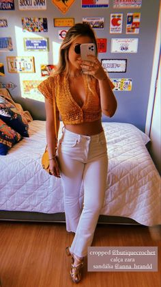 Zara, White Jeans, Capri Pants, Prints, Instagram, Fashion, Moda, Capri Trousers, Fashion Styles
