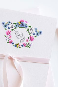 Watercolor Monogram Wedding Crest for wedding invitations for an elegant feel Watercolor Wedding Invitations, Elegant Wedding Invitations, Wedding Table Themes, Wedding Decorations, Wedding Signage, Monogram Wedding, Crests, Wedding Paper, Wedding Trends