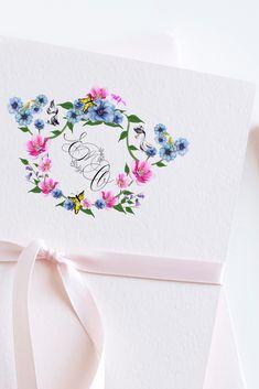 Watercolor Monogram Wedding Crest for wedding invitations for an elegant feel Wedding Logos, Wedding Signage, Monogram Wedding, Watercolor Wedding Invitations, Elegant Wedding Invitations, Wedding Table Themes, Wedding Decor, Crests, Wedding Paper
