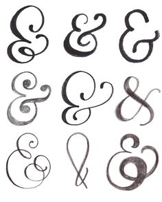 alisaburke: lettering series - practicing drawing ampersands