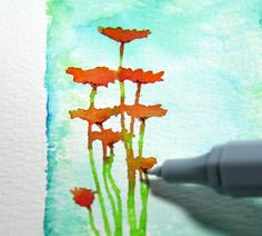 Spectrum Noir Aqua Markers Colouring Tutorial #SpectrumNoir #Aquatint #Watercolour