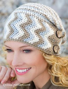 Women's Crochet Hat with Free Pattern.                                                                                                                                                                                 More