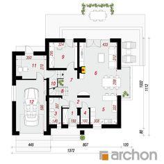 projekt Dom w tamaryszkach 2 (NT) rzut parteru House Plans, Floor Plans, How To Plan, Simple, Two Story Houses, Home Plans, Denim Quilts, Home, Detached House