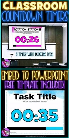 Countdown Timer PowerPoint for the Classroom! If you want to ensure your students maintain focus and make outstanding progress in a short space of time, then these countdown timers are a fantastic tool to help you do this! Classroom Activities, Classroom Organization, Classroom Ideas, Time Activities, Teacher Quotes, Teacher Humor, School Resources, Teacher Resources, Classroom Countdown