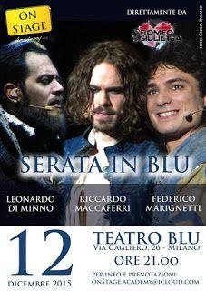 TG Musical e Teatro in Italia: SERATA IN BLU- Il 12 dicembre a Milano