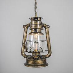 Lámpara colgante LATERNA dorada #promocion #rebajas #ofertas