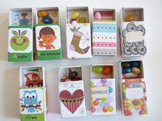 Mini matchboxes: cadeautje verjaardag