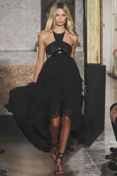 black dress. emilio pucci.