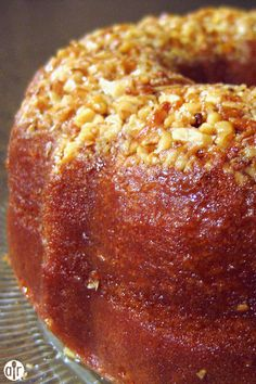 "Golden Rum Cake | ""These are great to make as a mini cake and give out as gifts."""
