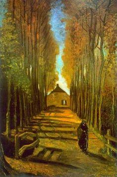"""Avenue of Poplars in Autumn"" by Vincent Van Gogh"
