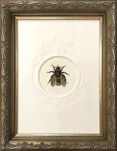 """""""Queen Bee"""" by Jodie Prymke Fine Art Framing with embossed mat and @larsonjuhl frame."""