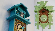 Art Wall: cuckoo clock installation from the land of wandawega