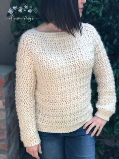 Nebbia Sweater Free Crochet Pattern – ChristaCoDesign Free crochet sweater in sizes This top down raglan style pullover works up quickly in bulky yarn and double crochets. Beginner Crochet Projects, Crochet Patterns For Beginners, Knitting Patterns, Sweater Patterns, Chunky Crochet, Free Crochet, Knit Crochet, Crochet Sweaters, Crochet Tops