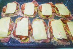 Recept elkészítése Réteges sertésszelet, lépés 5 Food 52, Camembert Cheese, Ham, Dairy, Keto, Steak, Baking, Desserts, Recipes
