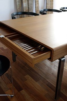 Dining Table with drawers by Interior And Furniture Architect Gubjrg  Magnsdttir.