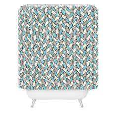 Bianca Green Braids Sky Shower Curtain | DENY Designs Home Accessories