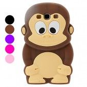 3D Animal Cartoon Monkey Soft Silicone Case for the Samsung Galaxy S3 S III i9300