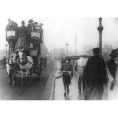 A Bamford Horse Bus crossing Trent Bridge, heading towards West Bridgford Vintage Dance, Bamford, Vintage London, West Midlands, Historical Pictures, Nottingham, Old Pictures, Family History, Planes