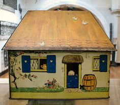 Lucy Atwell vintage biscuit tin , back view