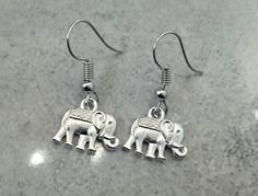 Boho Hippie Inspired Modern Jewelry Silver Plated Elephant Dangle Earrings Unique Cute Simple Gifts For Her Elephant Earrings, Elephant Jewelry, Unique Earrings, Dangle Earrings, Homemade Jewelry, Simple Gifts, Modern Jewelry, Hippie Boho, Gifts For Her