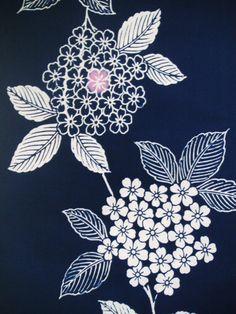 LAST 80 long...Ajisai Vintage Japanese indigo by CosimaOrimono, $25.00